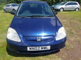 (02) HONDA CIVIC MAX, 1.4CC, MOT APRIL 2019 DELIVERY OPTION AVAILABLE