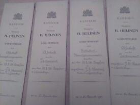 Antique legal documents