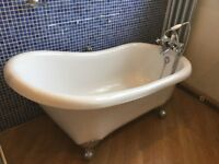 Victorian style roll top bath and fittings