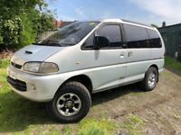 Mitsubishi Delica Space Gear 2800cc Turbo Diesel Automatic 8 Seat estate M Reg 1994 Silver