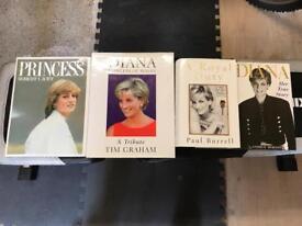 Princess Diana bundle of books x 4