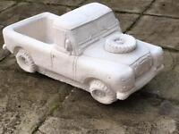 New Stone Land Rover Garden Planter