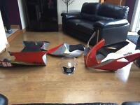 Aprilia Mille 2003 complete race fairing, screen and seat