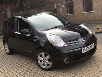 2008 NISSAN NOTE 1.6 TEKNA PETROL AUTOMATIC BLACK MPV FAMILY CAR MOT 5 SEATS NOT MICRA ALMERA CIVIC