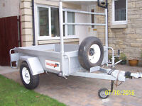 Car Trailer (Indespension Challenger)Galvanised + new tyres
