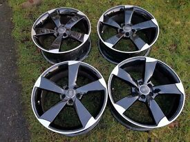 "18"" 5x112 Audi Rotors Rep Gloss Black"