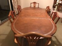 Dining Room Table and Six Chairs (Reproduction)