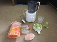 Avent baby food steamer/blender and baby food pouches