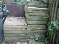 2 dozen (approx) paving slabs