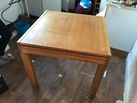 Oak Extending Dining Table and 4 Chairs