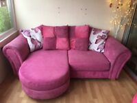 DFS pink chaise end sofa, excellent condition, seat covers removable for washing, smoke free home