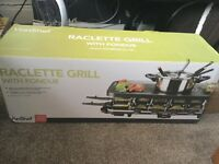 Brand New Raclette Grill with Fondue