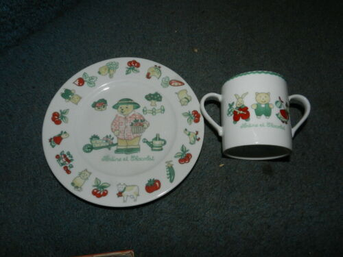 TARTINE et CHOCOLAT Cup and Plate Childs Set (D2)