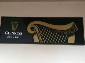Guinness bar mat and Guinness glass 1970/1980's