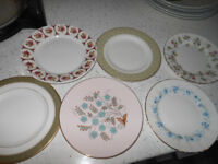 Side Plates x 6 Bone China Vintage Tea Party?