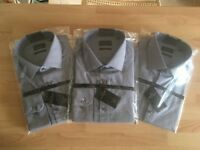 3 x Next Signature premium fabric slim fit shirts - In the packet - Never worn - size 16.5''