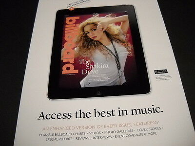 SHAKIRA Access The Best In Music 2014 PROMO POSTER AD mint condition