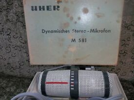 UHER Microphone and a number of pre recorded tapes