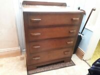 Art-deco wooden chest of drawers. Offers considered.