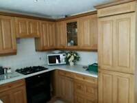 Oak Kitchen with integrated appliances