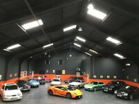 CAR STORAGE INDOOR SUPERB MODERN CLASSIC VINTAGE CARS