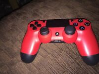 PS4 with games and two controllers