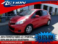 2014 Toyota Yaris 5-dr LE,AUTO,AIR,GR ELECT,BLUETOOTH