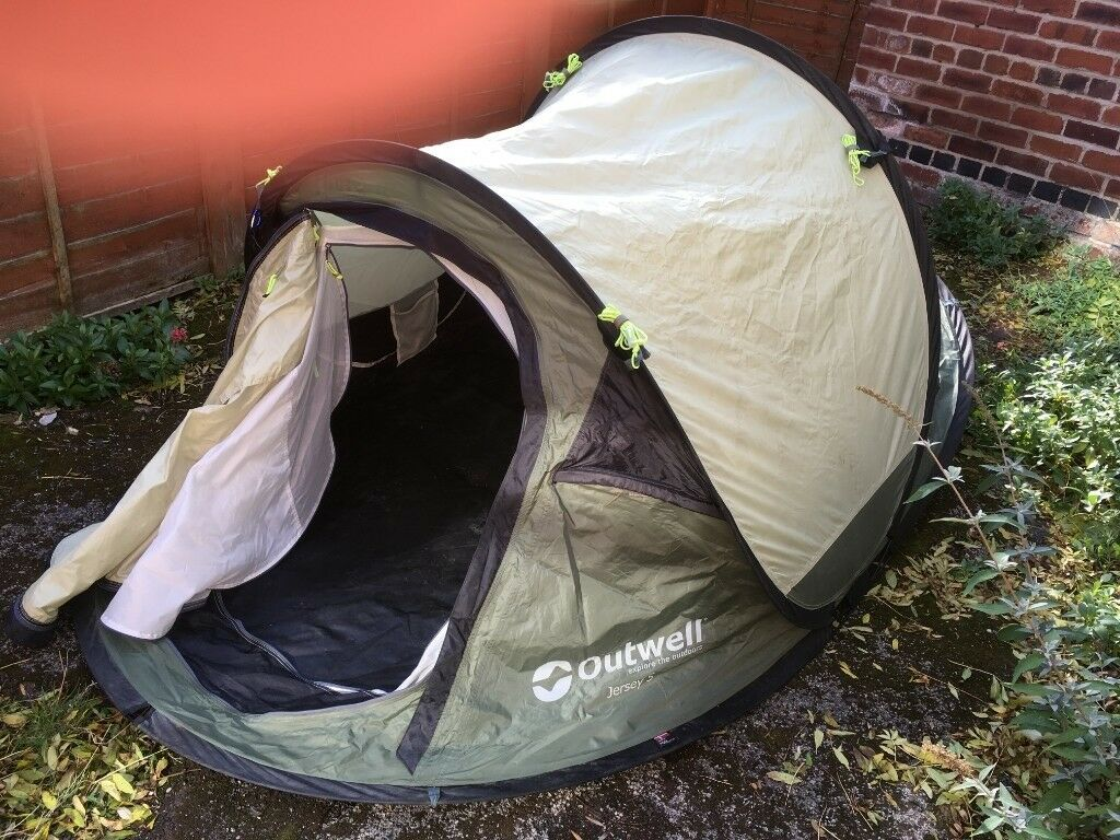 Outwell Jersey S 2 Man Pop up Tent Used but FairGood