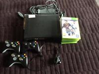 X box 360 120GB 9 games 3 controllers 1 headset