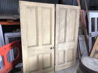 Old rebated double Georgian doors