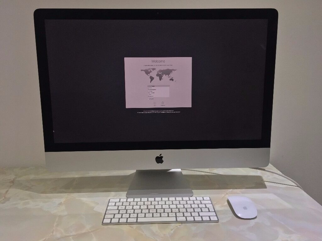 """Apple iMac 27"""" Late 2015 5k Retina 6 Months Apple Warranty Immaculate MK462B/Ain Wakefield, West YorkshireGumtree - Apple iMac Late 2015 27"""" 5k Retina 3.2GHz i5 Quad Core, 8GB RAM, 1TB HDD, AMD Radeon R9 M380 graphics, OS X Sierra. As new / immaculate condition all round (see photos). It comes with genuine apple wireless keyboard 2 and magic mouse 2. Fully tested..."""