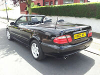 MERCEDES CLK 320 02 PLATE CONVERTIBLE AUTO ELEGANCE BLACK 1 PREVIOUS OWNER IN SUPER COND