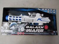 Galaxy Wars space gun, new and boxed