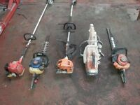 Selection of petrol hedge trimmers cutters