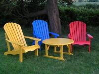 Adirondack-style Garden Chairs - GREAT VALUE! These