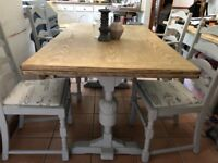 Farmhouse Extending Dining Table and Chairs