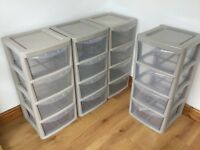 Four Drawer Silver Storage Units