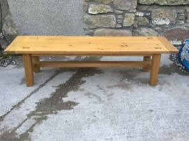 Kitchen bench, oak, suitable for 6 foot table