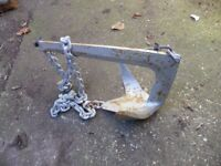 Boat anchors and 22 litre OMC fuel tank for sale.