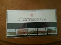 Prince of Wales 25th Anniversary of the investitire of the Prince of Wales stamp presentation set