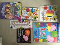 Kids brand new books and pens