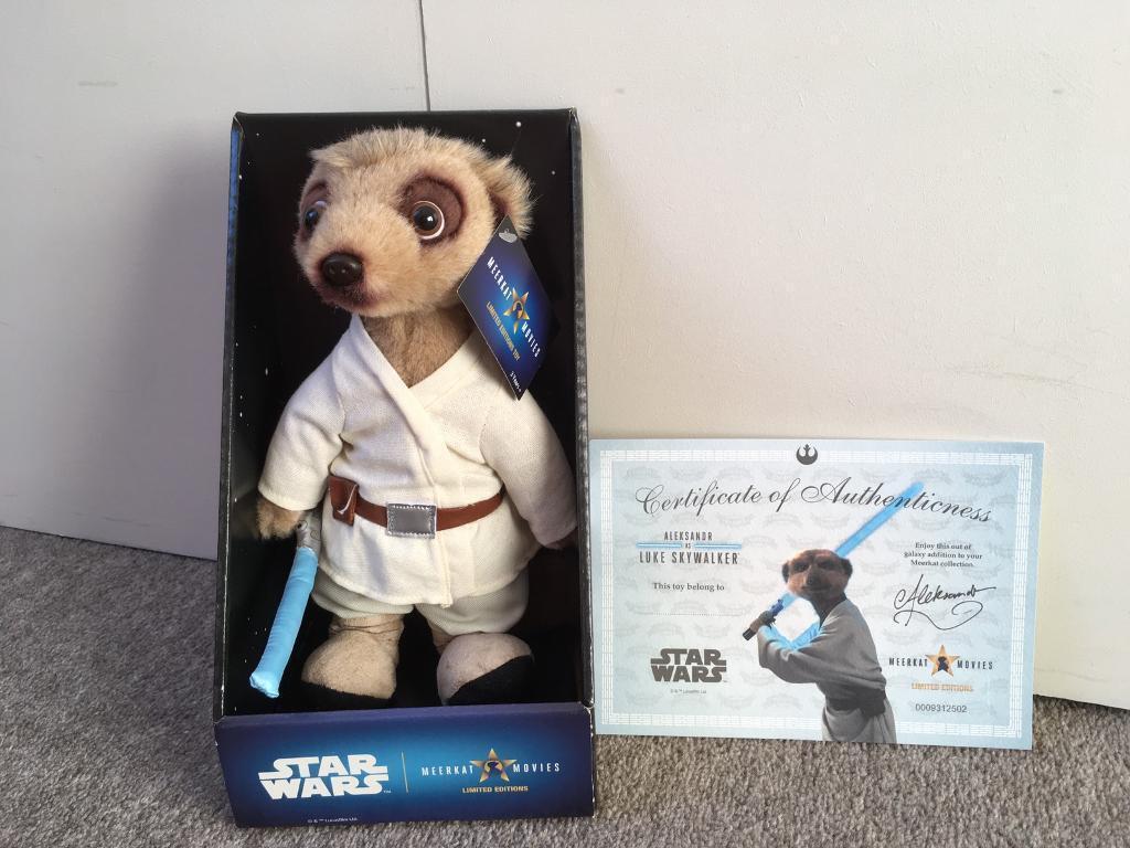 Brand New Limited Edition Luke Skywalker Meerkat