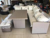Brand New 8 Seater Rattan Effect Sofa Set