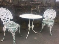 Reclaimed Patio Set / Bistro Set / Garden Table & 2 Chairs -- Can Deliver