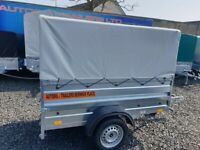 BRAND NEW MODEL 6X4 DOUBLE BROADSIDE WITH FRAME AND 80CM COVER 750KG