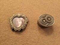 Matching jewelled photo frame and trinket box - never used