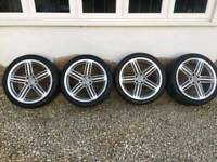 Genuine Audi 20inch audi alloys with Yokohama tyres