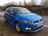 65 PLATE VOLKSWAGEN POLO BLUE 1.2 TSI 4,500 MILES ON THE CLOCK IMMACULATE CONDITION