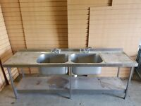 Large Double Kitchen Sink with Bays, Great Quality. Cheapest Available on Market and Gumtree.