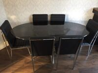 Park furnishers dining table and chairs